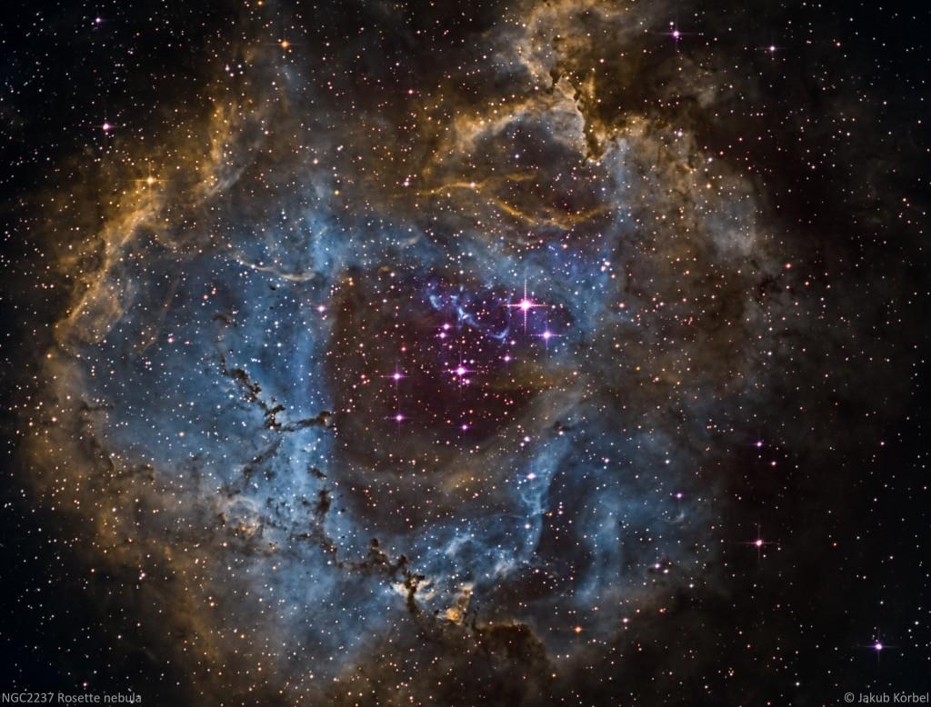 NGC2237-Rosette-2016-02-10-360s-40C-17Ha-19OIII-10SII-FL730-Hub